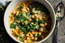 Curry de légumes aux épinards 1