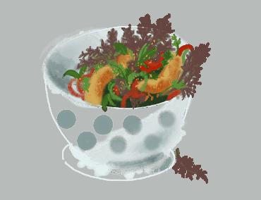 Poulet frit en salade 12
