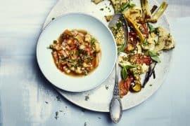 Pâtisson entier rôti et sa sauce aux anchois 2