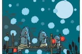 Le poisson vapeur à la vapeur avec ciboule : taoïste