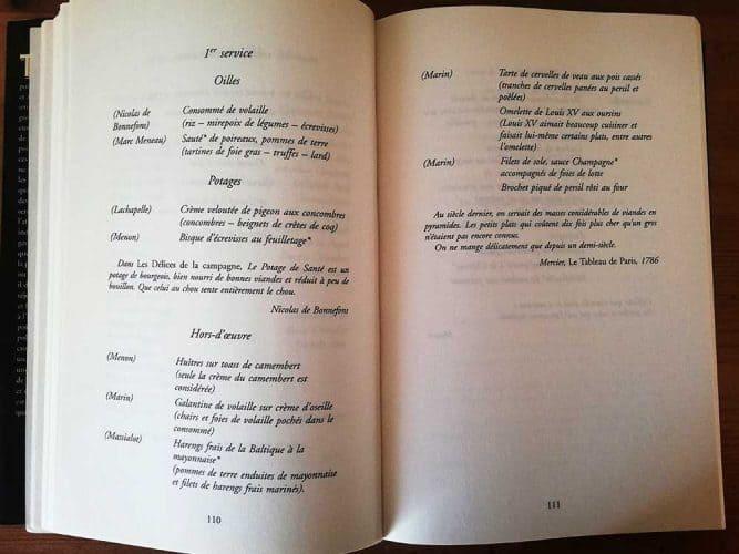 Le premier service d'un déjeuner gargantuesque de trente sept plats, à L'Espérance, en 2003 - © Flammarion