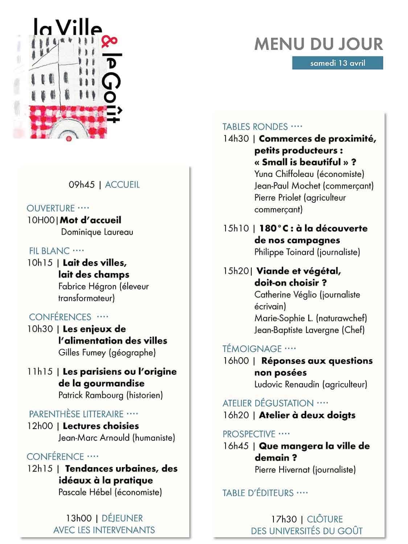 Les Universités du Goût, 5ème édition 1