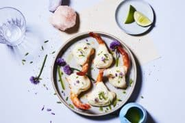 crevettes soufflées