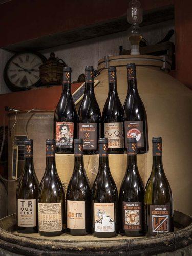 Les vins du domaine des Côtes rousses ont cette rare vertu vibratoire qui séduit les sommeliers des meilleures tables savoyardes et haut-savoyardes - © Viamo - Photographie Antonin Bonnet
