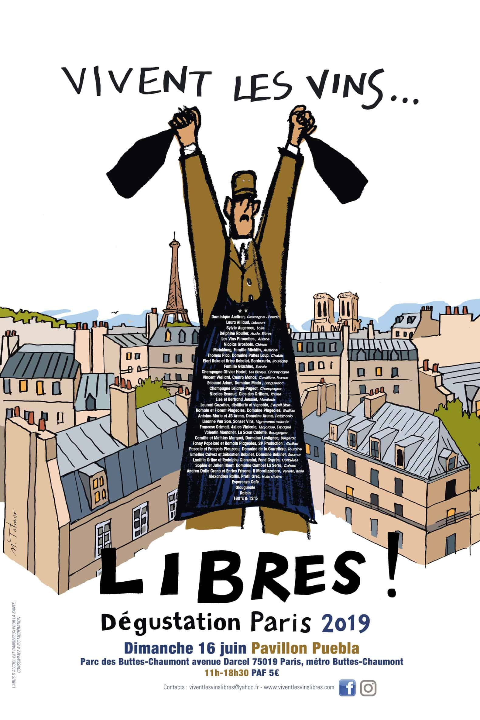 """""""Vivent les vins libres"""" - Paris 2019 2"""
