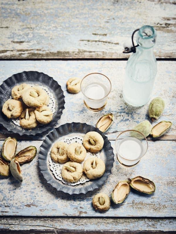 Biscuits aux amandes fraîches et fleur d'oranger