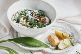 Crème de yaourt aux épinards et ail des ours 3