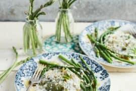 Raviolis aux asperges vertes