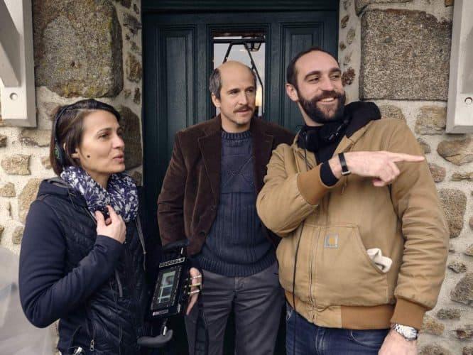 Au côté d'Edouard, la première assistante réalisatrice et un Guillaume Canet métamorphosé. - © 180°C Photographie Éric Fénot