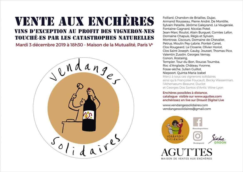 Soutenez les vignerons avec les enchères solidaires du 3 décembre !