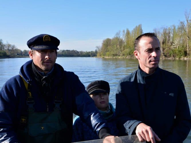Sylvain le pêcheur, son capitaine de fils et le Chef Christophe Hay - © 180°C - Photographie Manu Rodriguez