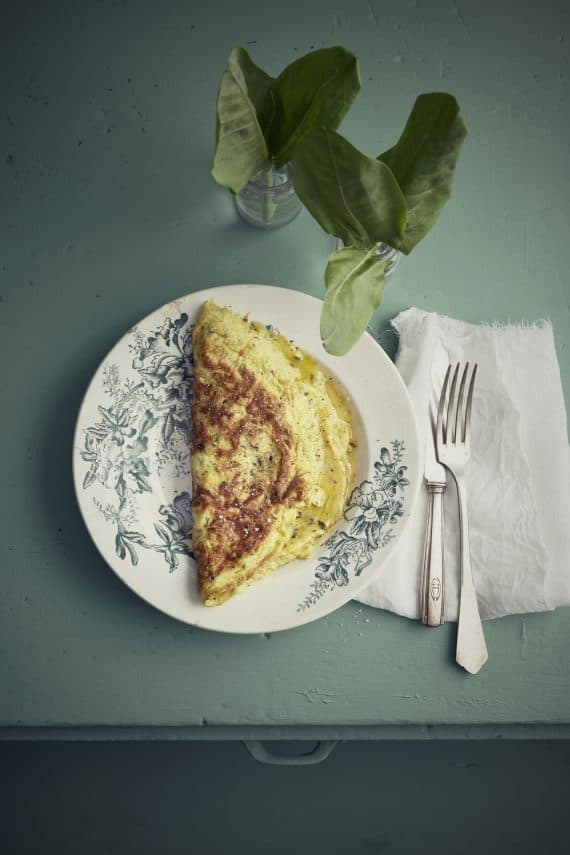 Omelette Oseille Saumon