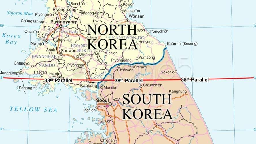 La Corée coupée en deux