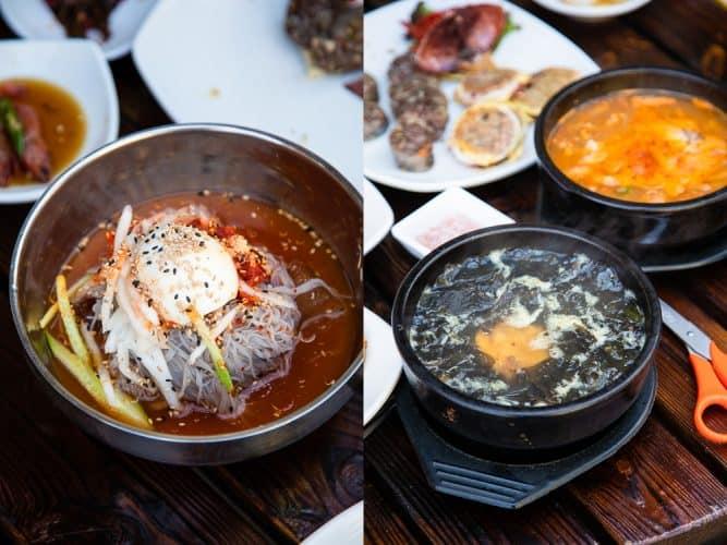 Nouilles de patate douce, soupe d'algues et d'oursin et ragoût épicé au tofu - © 180°C - Photographie Camille Oger