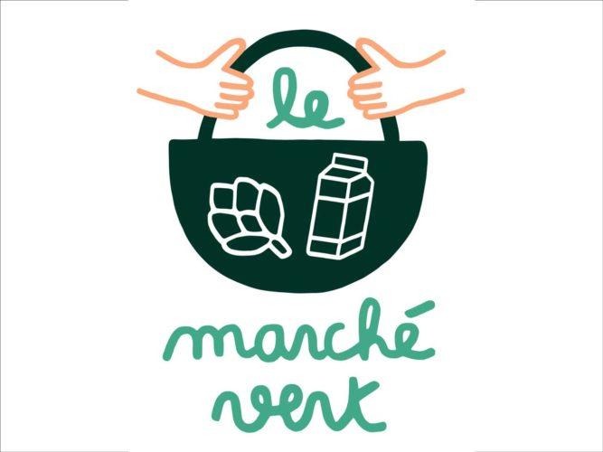 © - Illustration Le marché Vert