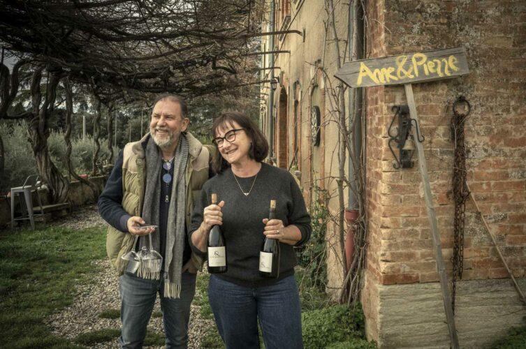 Pierre & Anne propriétaires bienheureux du Domaine &Les chancel - © 180°C - Photographie Olivier Pascuito