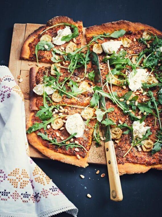 Pizza à la crème de poivron