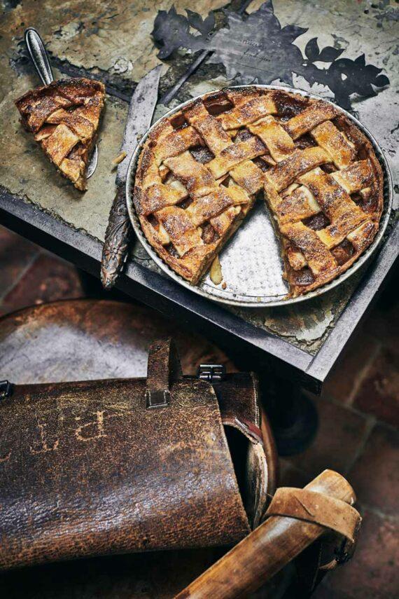 Tourte aux pommes et caramel
