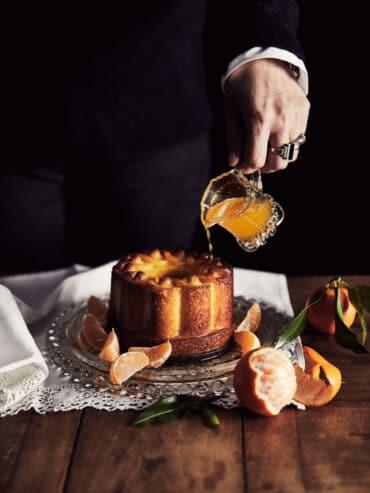 Gâteau de semoule et clémentine de Corse