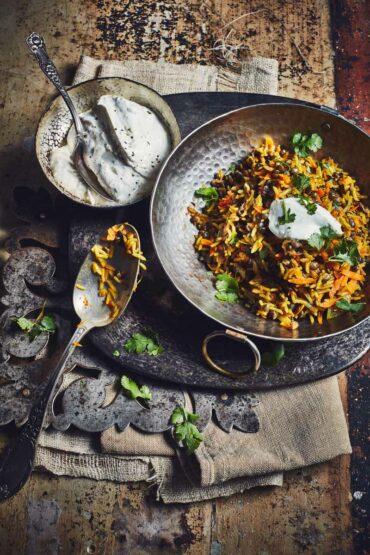 Lentilles vertes et riz à l'iranienne