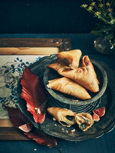 Samossas aux figues, potimarron et noisettes