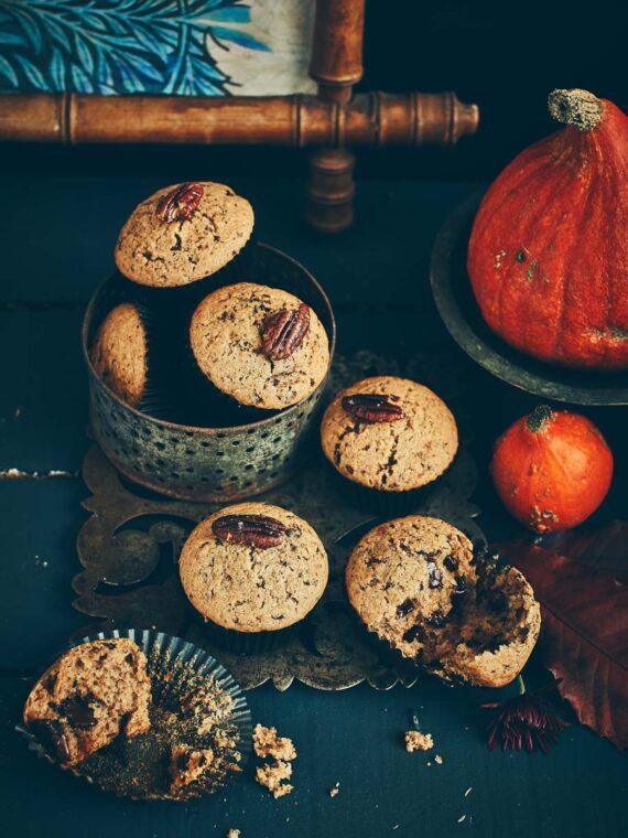 Muffins au potimarron et pépites de chocolat