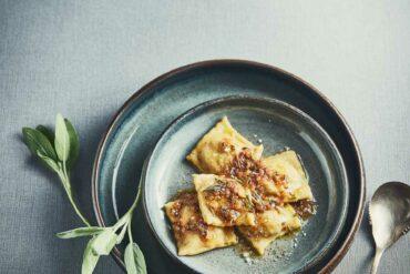 Raviolis d'artichaut au beurre de sauge